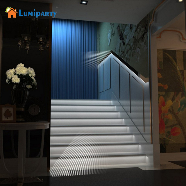 Lumiparty New Motion Sensor 1m Led Strip Light Battery Operated Home Closet Cabinet Stairs String Lights