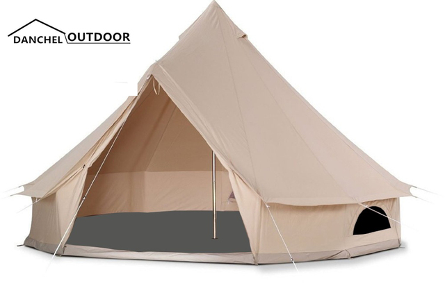 DANCHEL 6M Canvas Bell Tent In Stock Large tipi Waterproof with Black mesh and Grey sheet  sc 1 st  AliExpress.com & DANCHEL 6M Canvas Bell Tent In Stock Large tipi Waterproof with ...
