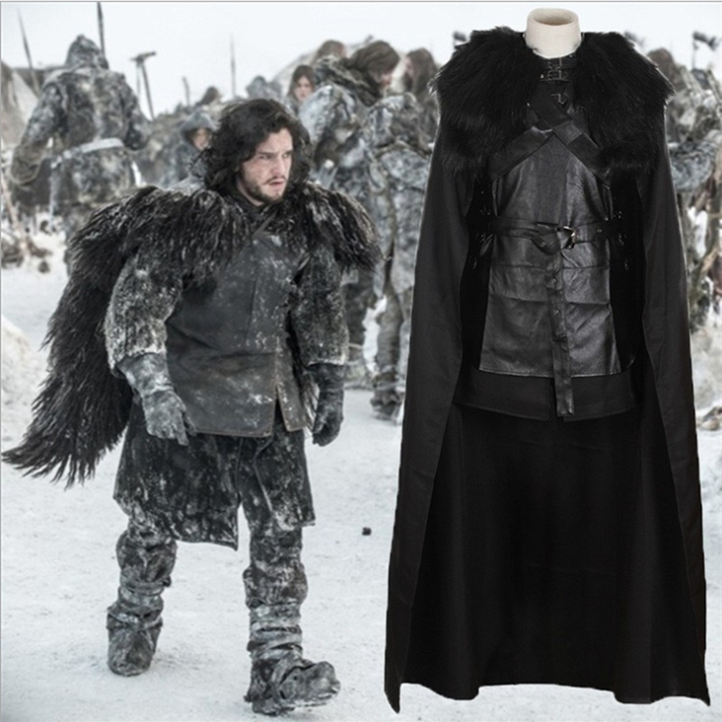 Game of Thrones cosplay Song of Ice and Fire Jon Snow  American Cosplay Costumes Throne Game 6 Piece Set XintComic