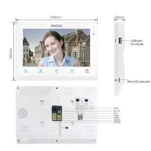 Image 3 - TMEZON 10 אינץ אלחוטי/Wifi חכם IP וידאו פעמון אינטרקום מערכת, 1xTouch מסך צג עם 2x720P Wired דלת טלפון מצלמה