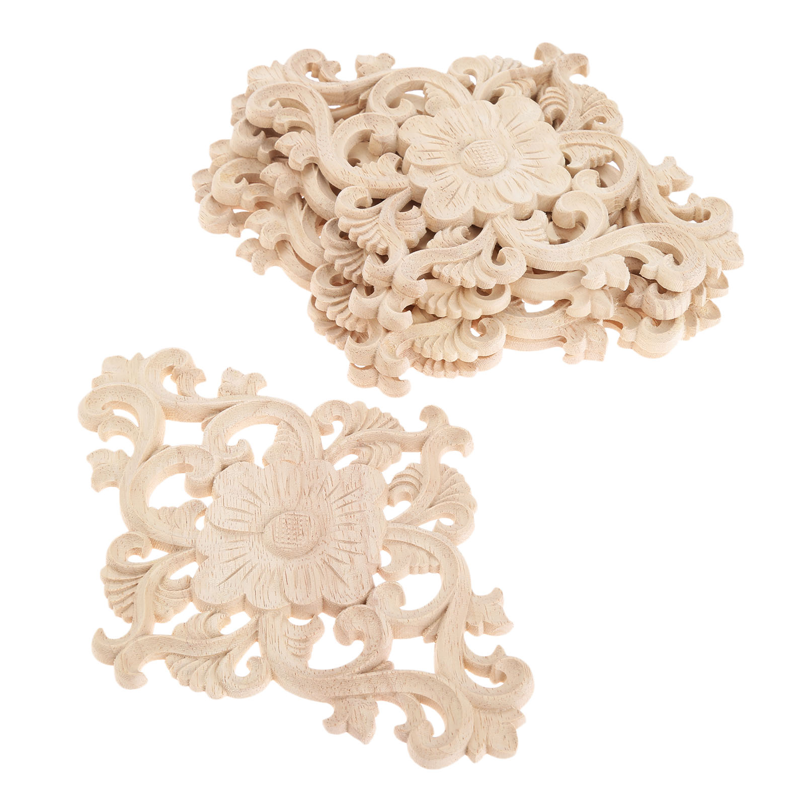 W68 10 x Plain Wooden Medium Circle Craft Shape Blank Emblishment Decoration
