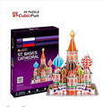 CubicFun 3D Paper Puzzle 46pcs ST. Basil's Cathedral Russia C707h 16.5*13.4*20.5CM Educational Toys for Children