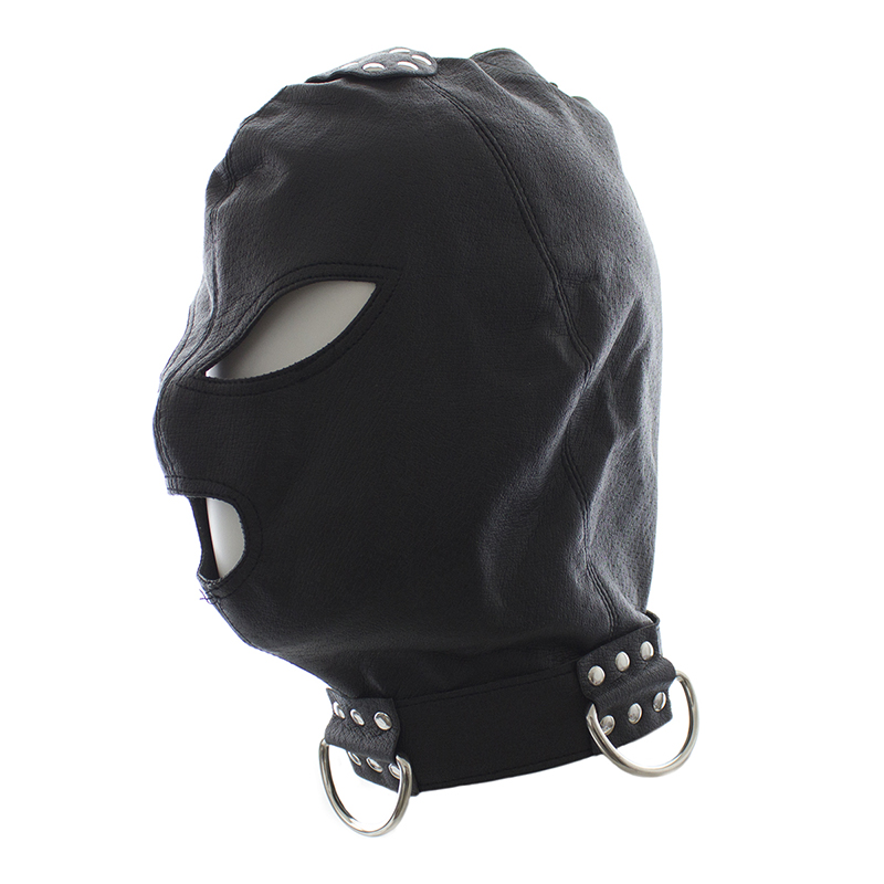 Gay bondage head mask