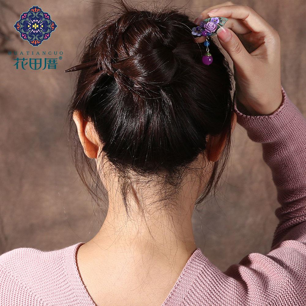 Ethnic Handmade Flower Hairpin 5