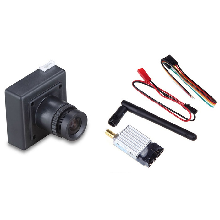 FPV 5.8G 8CH 200mW TS351 Wireless AV Mini Transmitter + CCD 700TVL wireless Mini  Camera Set for RC Drone Aerial Photograph ts5823 5 8g 200mw 32ch mini wireless transmitter for fpv black page 9