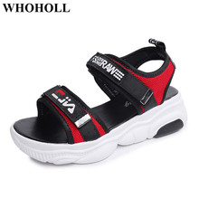 New Women Sandals Summer Shoes with Platform Flat Outdoor Beach Sandals Stylish Student Footwear Breathable Anti-skid Design stylish women s sandals with flowers and black colour design