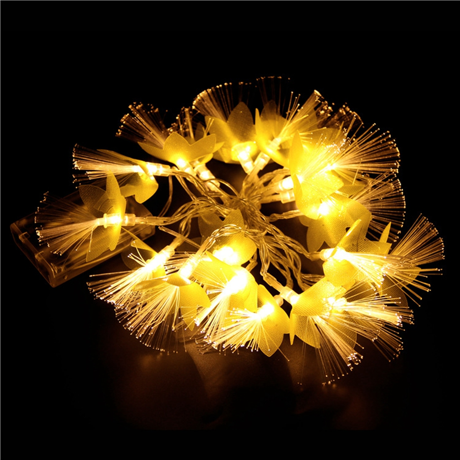 YINGTOUMAN Battery Powered 20LED 2M String Light Christmas Holiday Wedding Party Decoration Lighting Little Yellow Flowers Lamp
