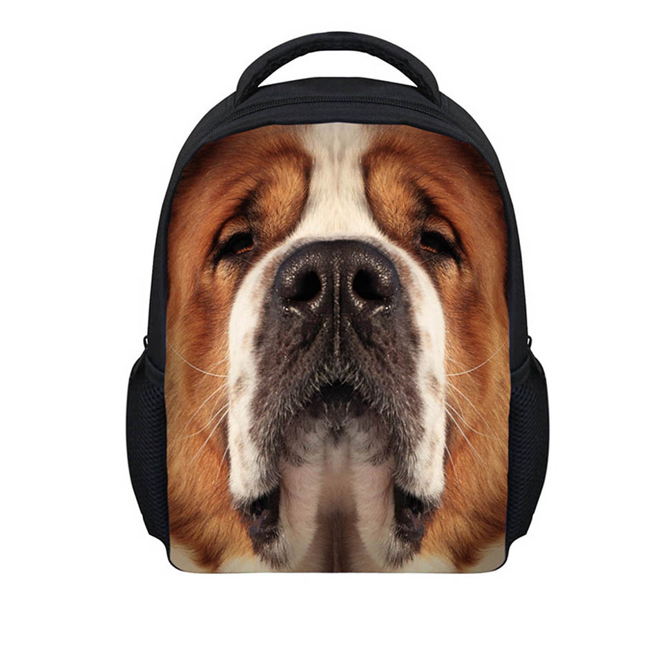 Noisydesigns Lovely Dog cat 3D Printing Shoulder Backpack for Teen students kid gifts bag Customize image Children Schoolbag