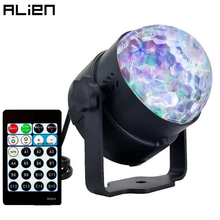 ALIEN 6W 15 Colors LED Water Wave Stage Projecting Lighting Effect DJ Disco Party Crystal Magic Ball Lamp With Remote Controller