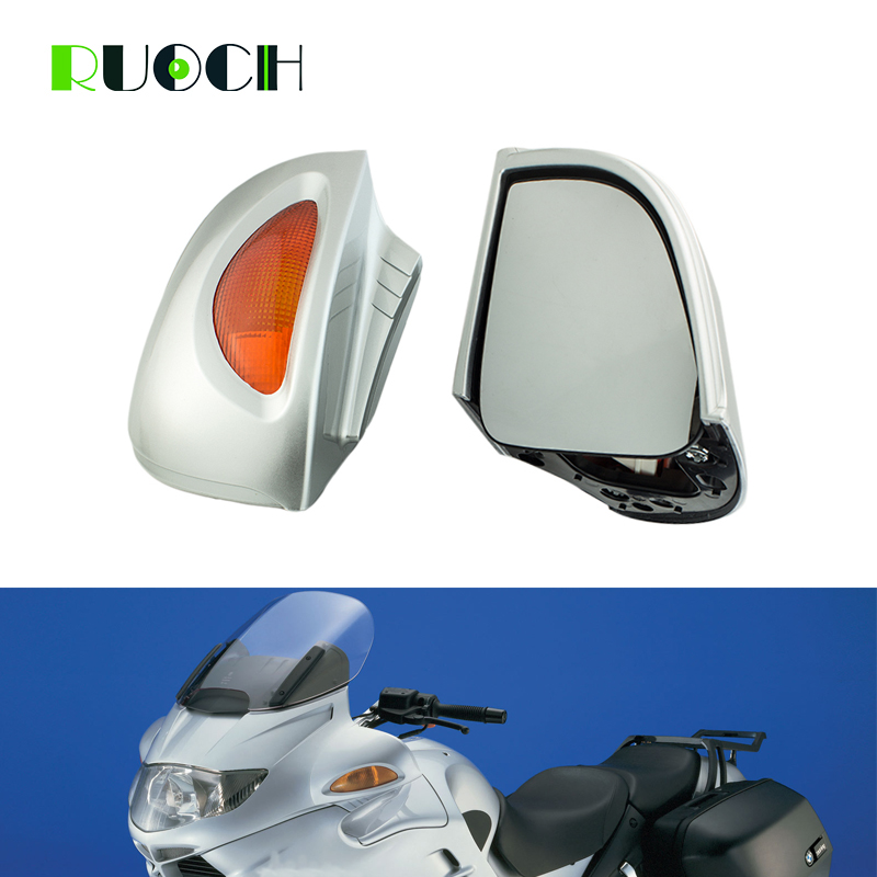 Motorcycle Accessories Side Rearview Mirror W/ Turn Signal Lights for BMW R1100RT R1150RT R1100 RT R1150 RT
