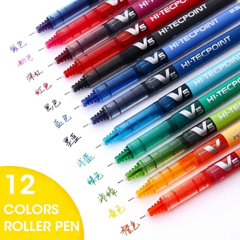 Andstal 12/6 kolorów/partia Pilot pióro kulkowe Rollerball precyzyjne V5 cienki punkt końcówka igłowa opatentowana precyzja punkt technologii, gładka