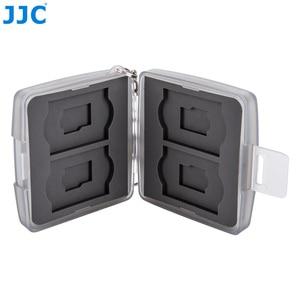 Image 2 - JJC Speicher Karte Fall 4 SD + 4 TF Kamera Mini Compact Tough Halter Wasser Beständig Lagerung Karten Box