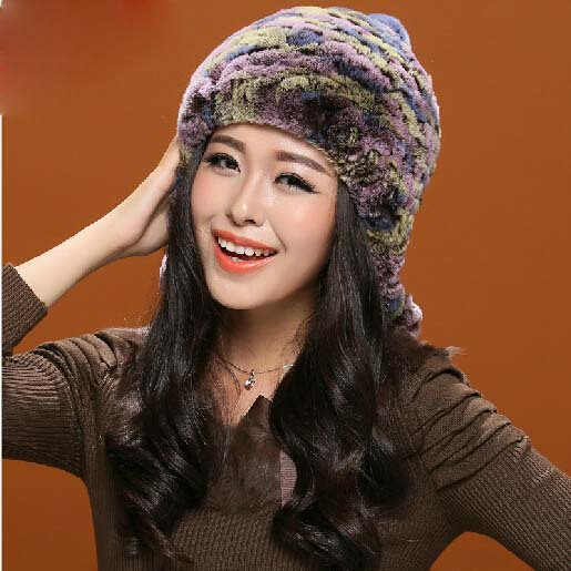 The new 2016 real hair of otter rabbit   fur hat lazy rabbit hair braided hair bulb ball hat fashion warm joker simple lines 2017 fashion hat deserve to act the role of natural a warm hat lovely hair bulb the bulb can be removed