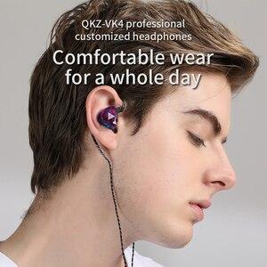 Image 2 - Original QKZ VK4 ที่มีสีสัน DD หูฟัง HIFI เบสหูฟังตัดเสียงรบกวนพร้อมไมโครโฟนเปลี่ยนสายหูฟัง