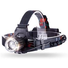 YAGE YG-608C HeadLamp USB LED Head lamp Forehead Flashlight Light Led Lintern Fishing Lanterna Six Modes for 18650 Battery