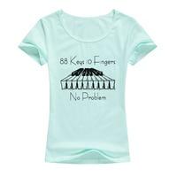 Фортепиано 88 ключей 10 пальцев без проблем футболка Женская Модная креативная футболка крутая стильная повседневная забавная футболка Топы...