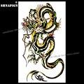 Временная татуировка SHNAPIGN с драконом грома, боди-арт, флеш-татуировка, наклейка s 17*10 см, водостойкая искусственная татуировка, наклейка для ...