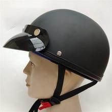 vintage motorcycle helmet vespa vintage harley summer half helmet USA jet retro capacete casque moto DOT approved все цены