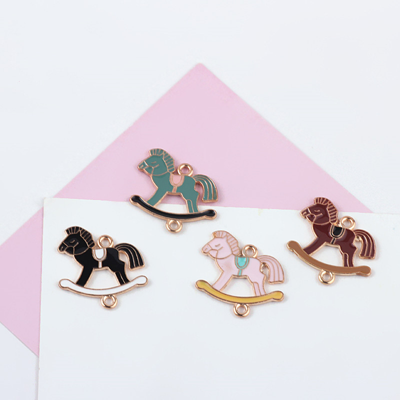 Symbol Of The Brand Mrhuang 10pcs/lot 19*24mm Carousel Horse Enamel Charms Connecote Fit Necklaces Bracelet Diy Fashion Jewelry Accessories Jewelry Sets & More