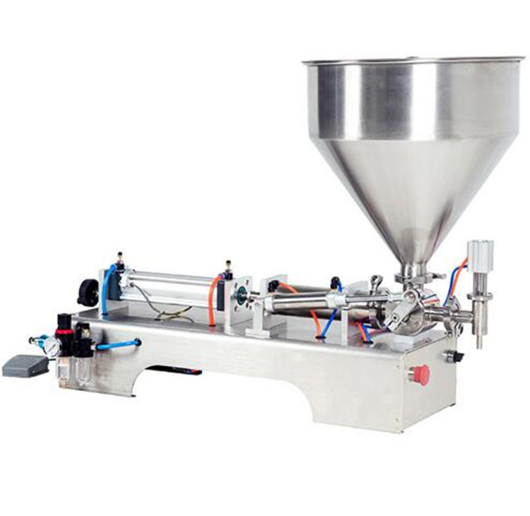 50-500ML heated hopper paste filling machine peanut paste filling machine single head50-500ML heated hopper paste filling machine peanut paste filling machine single head