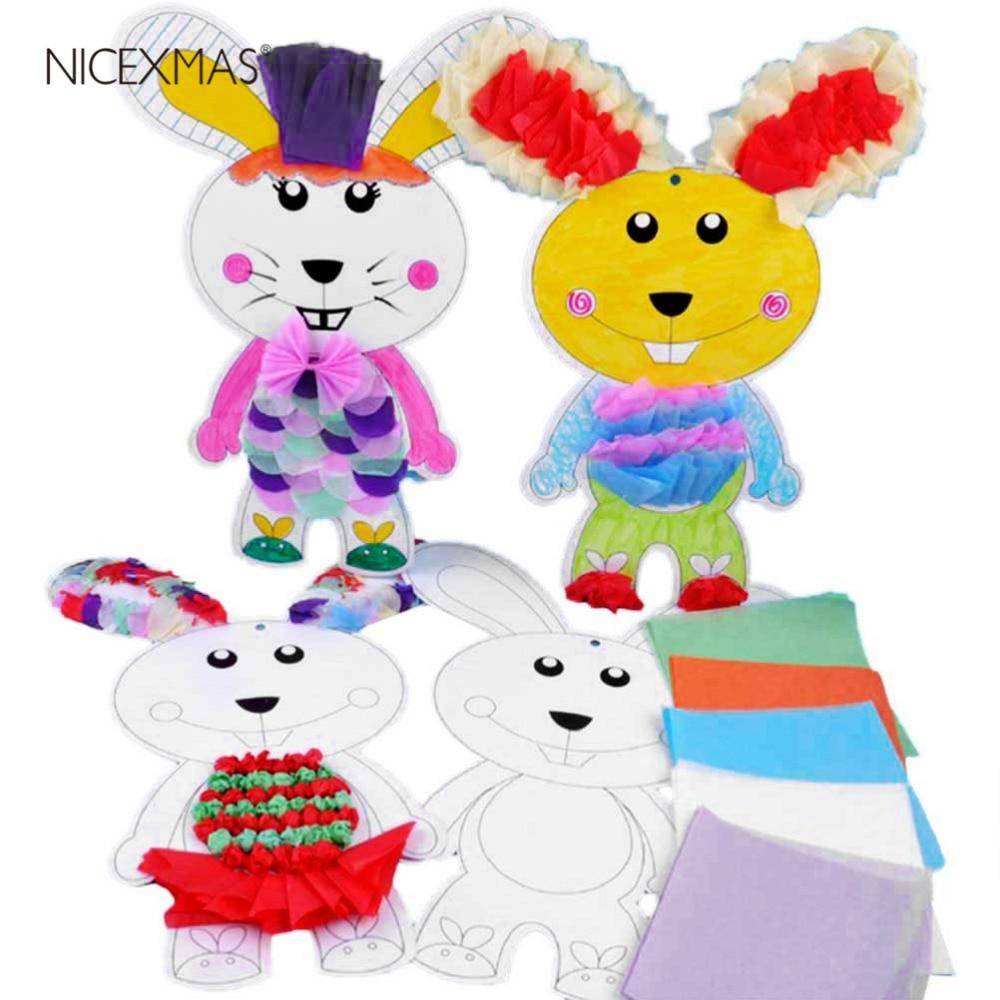 1pc Handmade Material Bag Stickers Materials Crafting DIY Supplies For Kids Kindergarten (Random Color)