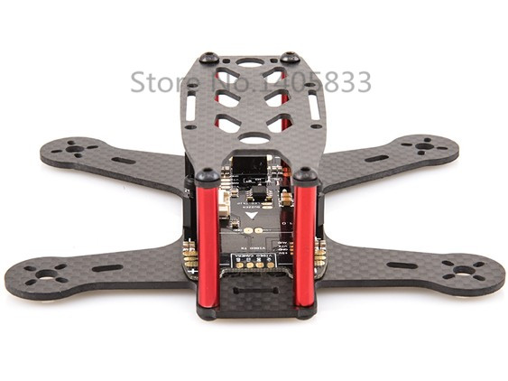 BeeRotor 130 130mm 4-Axis Full Carbon Fiber Racing Mini Quadcopter Frame with BeeRotor Latest Mini PDB Board new trooper y6 900mm 3 axis full carbon fiber frame with pdb for rc multi quadcopter drone