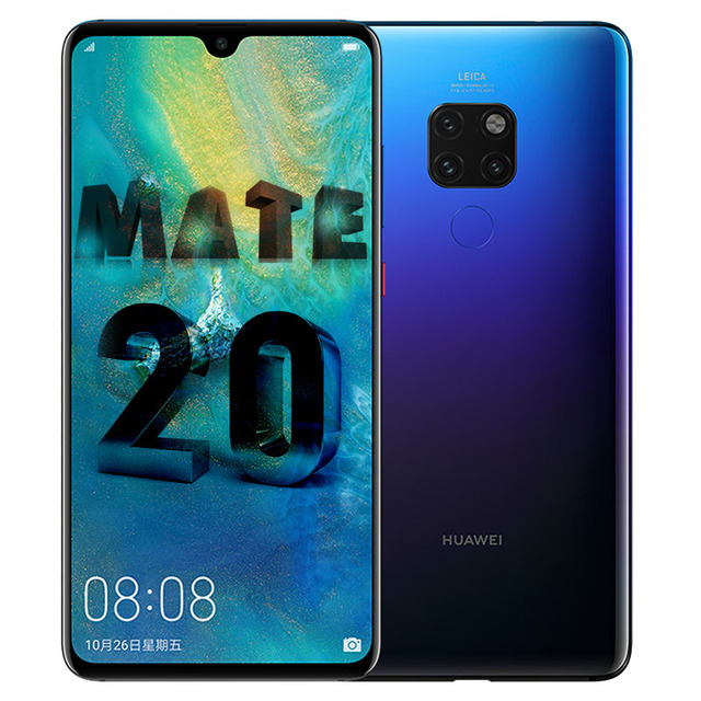 HUAWEI Mate 20 Smartphone 6.53 Inch Full Screen 2244X1080 Kirin 980 octa core Android 9 4000 mAh 4*Camera Super Charger 4.5V/5A