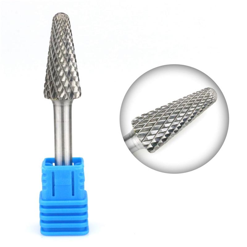 "1pcs E Oval Head Tungsten Carbide ALUMINUM CUT Rotary Burr Burs 1//4/"" shank"