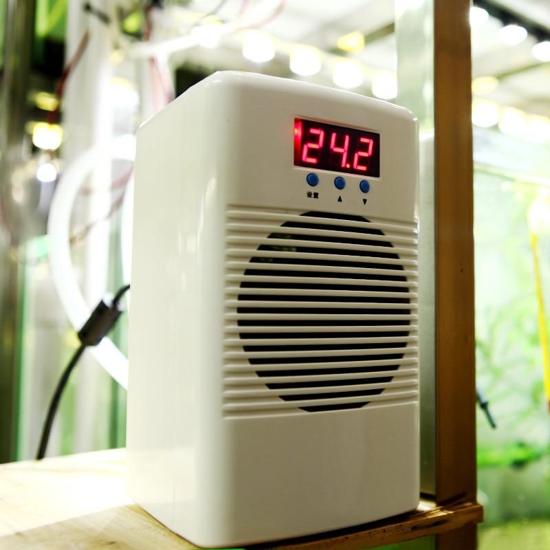 100 W 110-240 V acuario chiller agua calentador y enfriador acondicionador de temperatura para el tanque de pescados Coral Reef camarón tanque de abajo 30L