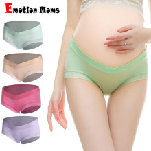 4PCS/Lot cotton Pregnancy Maternity Women Underwear Panties pregnant women clothes U-shaped low-Waist Briefs
