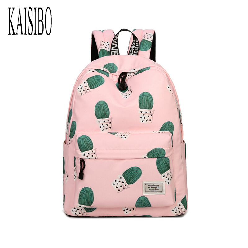 KAISIBO Women Backpack Travel Cactus Print Multi-Functional Shoulder Knapsacks For Teenager Girls School Bags Mochila Feminina mmlong 12cm realistic minnow fishing lure popular fishing bait 14 6g lifelike crankbait hard fish wobbler tackle pesca ah09c