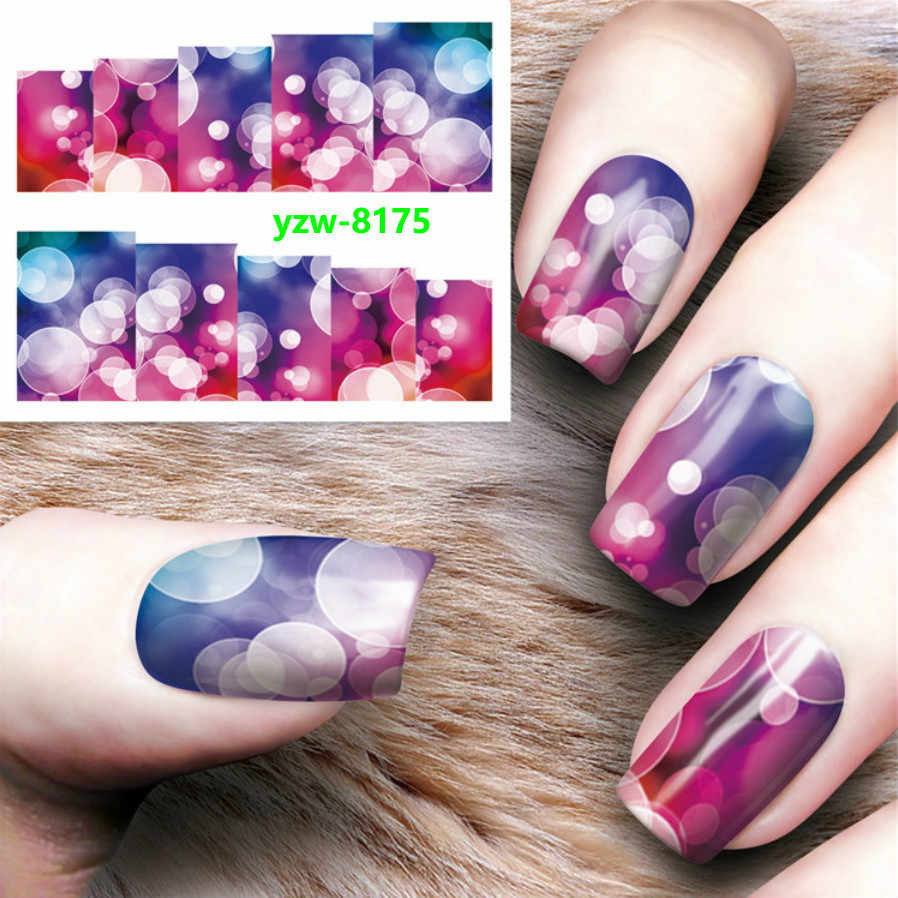 1 Pcs Nail Sticker Magic Flower Water Transfer Decal Sliders for Nail Art Decoration Tattoo Manicure Wraps Tools Christmas Y8175