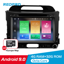 4G RAM IPS Screen Android 9.0 Car Stereo For Kia Sportage 2009-2015 Car DVD Player Auto Radio FM WiFi Multimedia GPS Navigation 8 core 4g ram android 8 0 car dvd multimedia radio player for kia picanto morning 2017 2018 stereo gps navigation fm video audio
