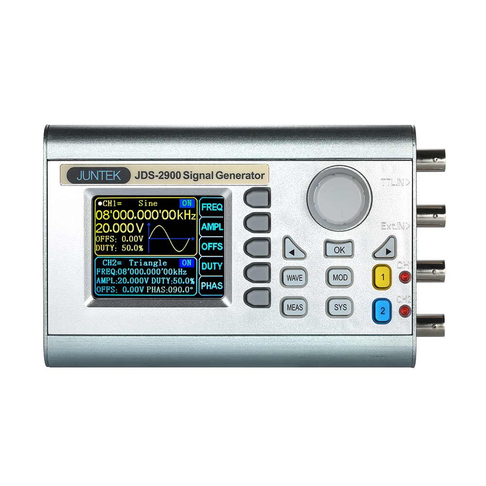 JDS2900-15M High Precision signal generator Digital Dual-CH DDS function Generator Arbitrary Waveform Pulse frequency Generator ad9910 high speed dds module output up to 420m 1g sampling frequency signal generator development board