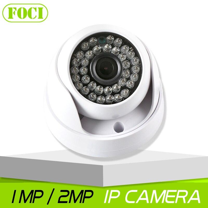 imágenes para 1MP Cámara de 2MP HD IP Cam Lente de Interior de la Bóveda de 3.6mm 720 P 1080 P Cámara de Red IP de Seguridad CCTV Onvif P2P iPhone Android XMEye vista