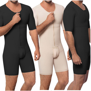 Image 1 - Waist Trainer Men Shapewear Open Crotch Front Zipper Sexy Bodysuit Butt Lifter Male Tummy Short Sleeve Big Size 6XL Dropshipping