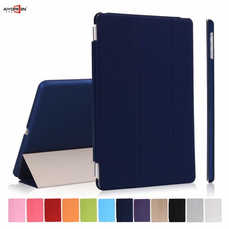 aiyopeen for ipad 2018 9.7 case,smart wake up sleep plastic back cover+3-fold pu leather magnet flip ultra slim 2017 9.7inch