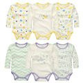 100% algodão corpo de bebê Bodysuits bebé roupa de pacote de 3 peças