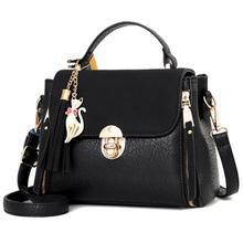 Women Handbag Leather Women Bag Women Messenger Bag Shoulder Crossbody Handbag Flap Small Zipper Tassel Pendant Rivets Casual цены