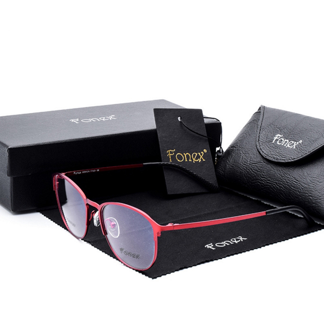 Titanium glasses frame titanium очки рамки мужчины очки близорукость кадр очки Высокого класса Бренда женские Очки Кадр