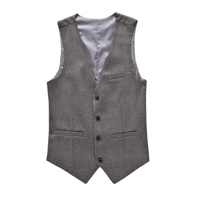 2017 New Men's Casual Vest Korean Slim Business Gentleman Solid Color Cotton Vest Suit Plus 3XL 4XL 5XL 6XL