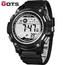 Top Marca OTS Relogio masculino Homens Relógios Do Esporte Dos Homens Moda Casual Digital LED Assista Montre Homme Homens Relógios À Prova D' Água 6992 S