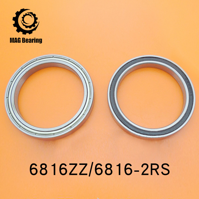 High Quality Thin Section Deep Groove Ball Bearing 6816ZZ Metal Shielded Ball Bearing 61816 80X100X10MM 5pcs lot f6002zz f6002 zz 15x32x9mm metal shielded flange deep groove ball bearing