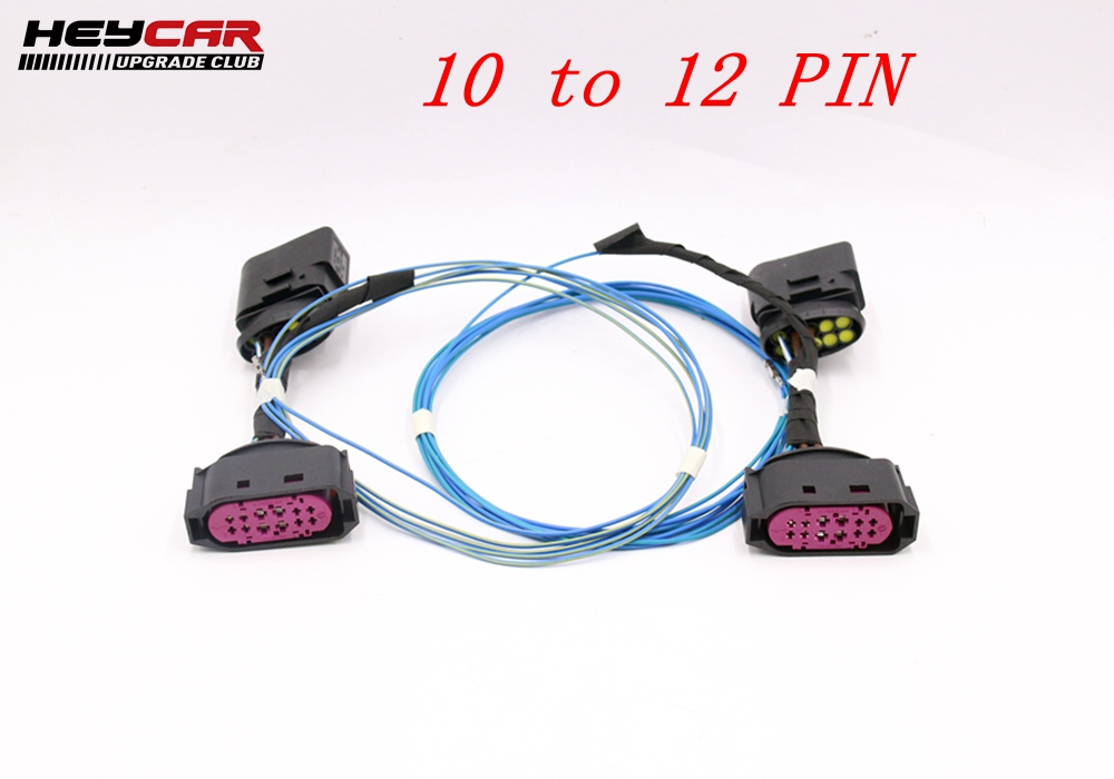 Hid Xenon Headlight 10 To 12 Pin Connector Adapter Harness Wire For Vw Jetta Mk5