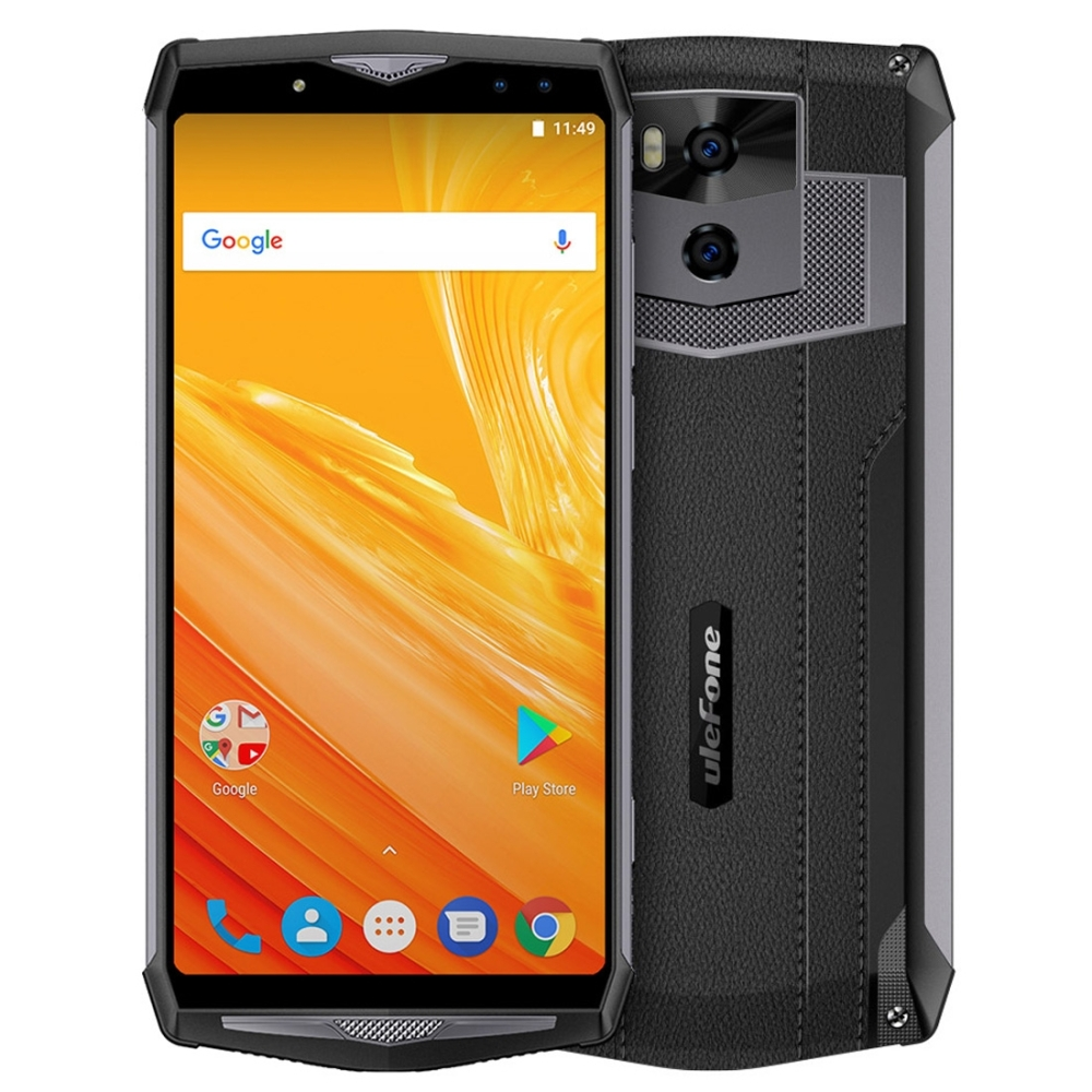 Ulefone Power 5 Smartphone Face ID 6.0 Display 6GB RAM 13000mAh Mobile Phone MTK6763 Octa Core 64GB ROM Android 8.1 OTG 21MP