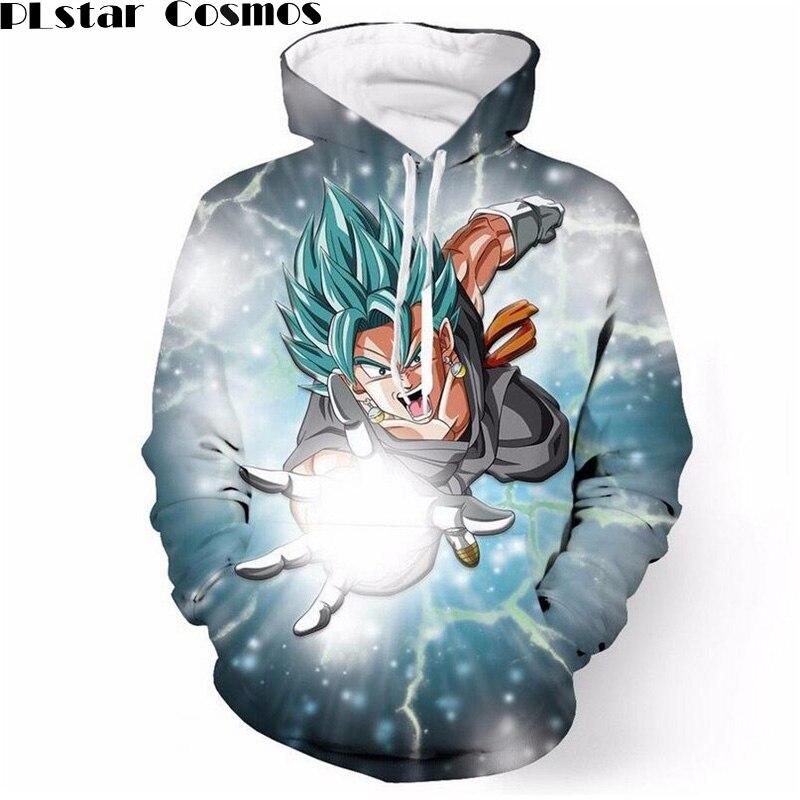 PLstar Космос Dragon Ball Z DBZ карман толстовки с капюшоном 3D Супер Saiyan Герой толстовки пуловеры Harajuku Для мужчин Для женщин верхняя одежда