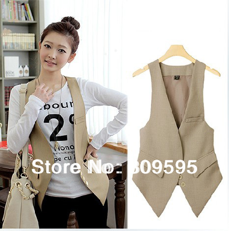 High quality Plus size Fashion women suit Waistcoat , Causul Vest , Sleeveless Slim lady Vest