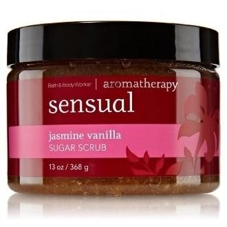 Bath and Body Works Jasmine Vanilla Sugar Scrub Aromatherapy Sensual 13 Oz