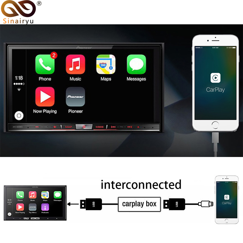 Sinairyu USB Apple Carplay Dongle for Android Auto iPhone iOS13 Carplay Support Android system Car Navigation