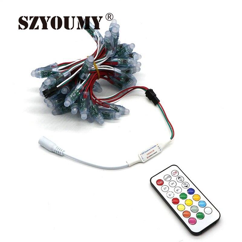 SZYOUMY WS2811 LED Module de pixels IP65 étanche DC5V polychrome rvb chaîne éclairage de noël à LED adressable un jour d'expédition rapide